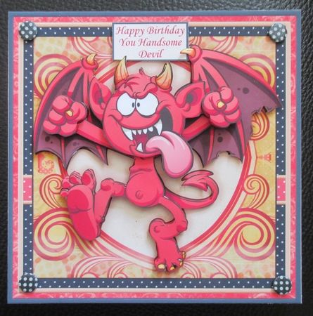 HANDSOME DEVIL 7.3 Decoupage & Insert Mini Kit various occasions - CUP792952_68 | Craftsuprint