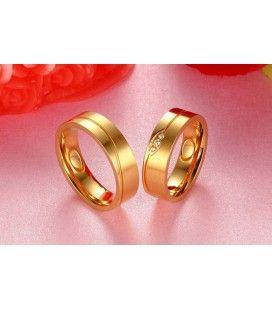 nemesacél gyűrű, Aranyozott, férfi titánium karikagyűrű