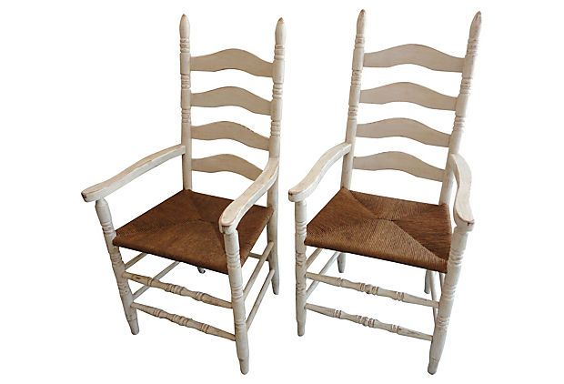 Painted   Ladder-Back Chairs, Pair on OneKingsLane.com