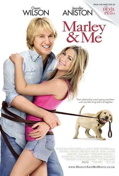 Marley and Me (2008) A family learns important life lessons from their adorable, but naughty and neurotic dog. I cry every time I watch this movie.
