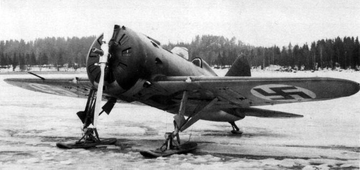 Polikarpov I-16 type 18 Soviet fighter captured by Finnish troops