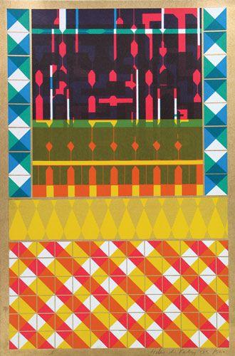 Eduardo Paolozzi Screenprints  - influence geometric and art deco trrend