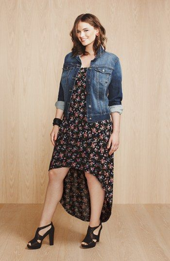 Jessica Simpson Dress & Jag Jeans Denim Jacket  available at #Nordstrom