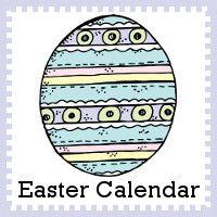 Free 2016 Easter Calendar Printable: 2 calendar card sets with 5 single page printables - 3Dinosaurs.com
