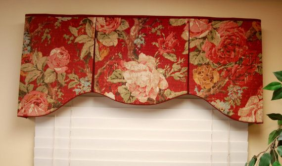 "Custom Made Valance ASHLEY  Hidden Rod Pocket Valance fits 32""- 44"" window, You provide the fabrics, I provide the LABOR and lining on Etsy, $92.50                                                                                                                                                                                 More"