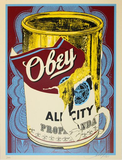Shepard Fairey, Soup Can III, 2009 on Paddle8