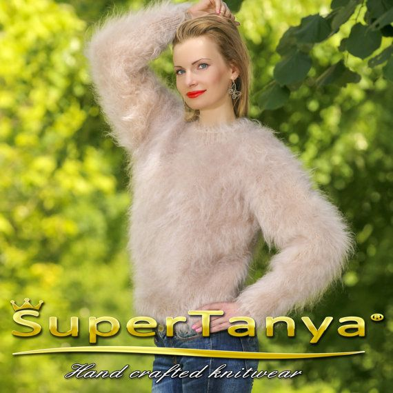 Luxury hand knitted mohair sweater unisex by supertanya on Etsy