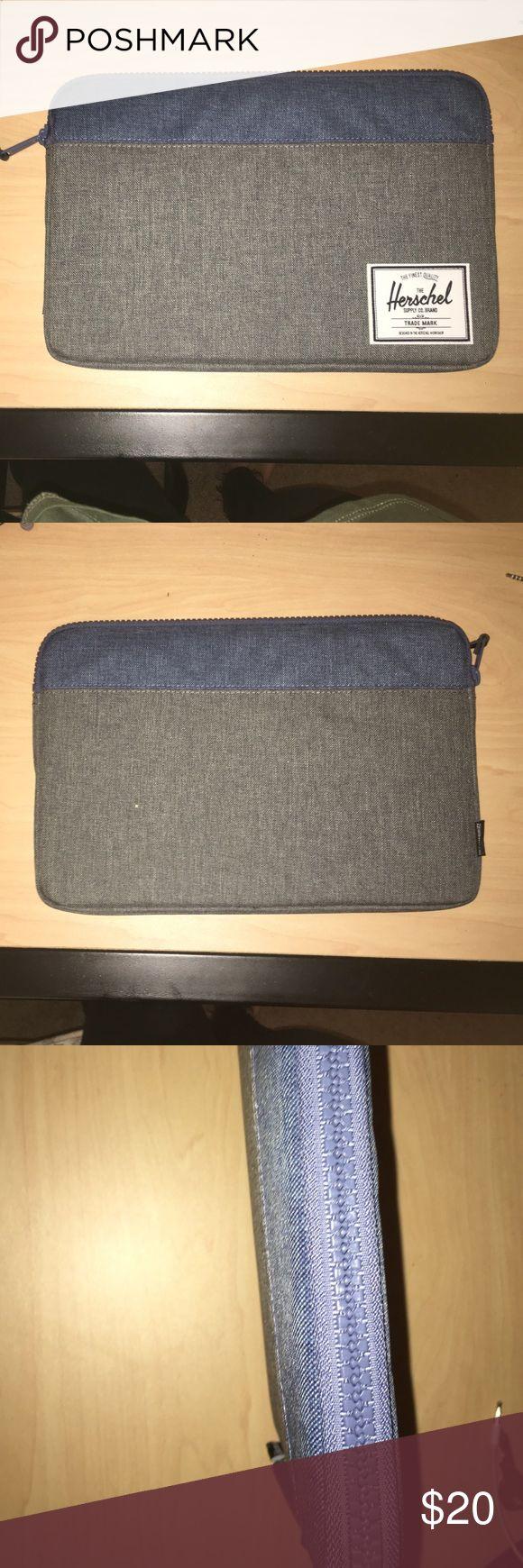 "Never been used, authentic Herschel laptop sleeve grey + blue, never been used, authentic, fits 11"" laptops Herschel Supply Company Other"