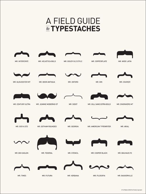 Field guide to typestaches #typography