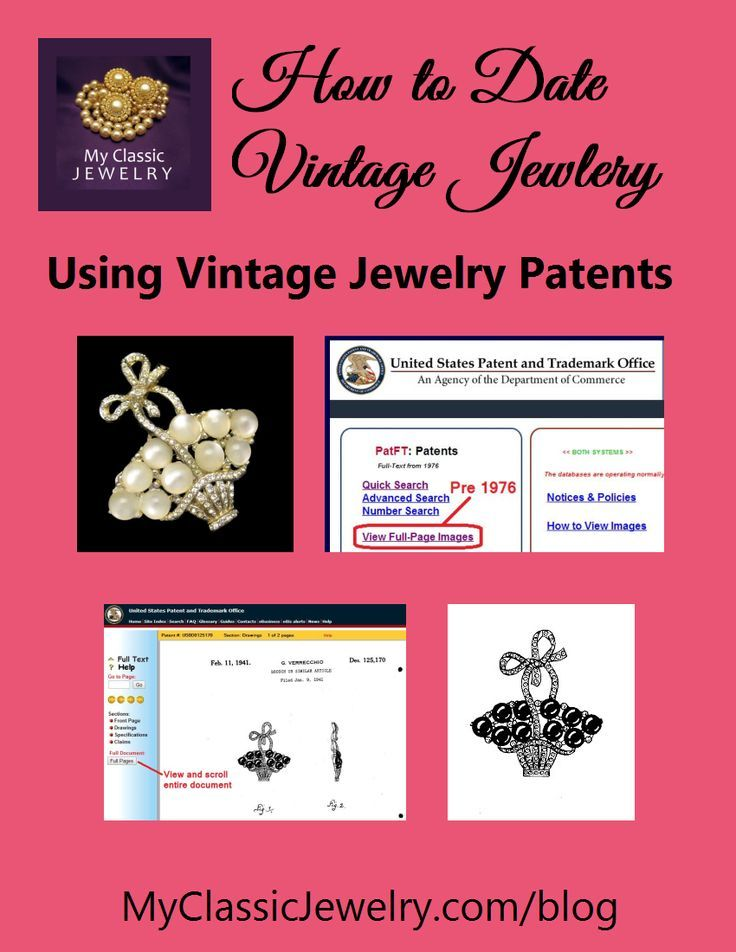 Dating vintage jewelry can be difficult.  Although nothing before 1955 had a copyright, they did have patent numbers and you can use those to date your vintage jewelry. @classicjewelry created an easy to follow guide for using patents to date your vintage jewelry.