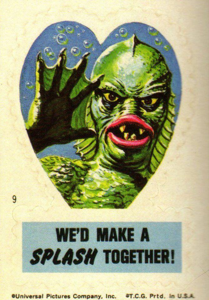 Frankenstein Valentines Stickers #9 (1966)
