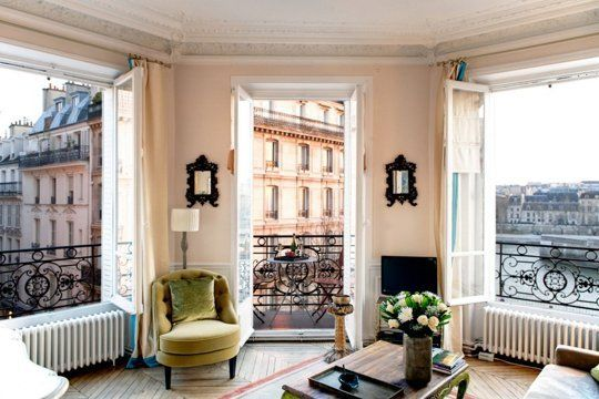 This apartment on the Île Saint-Louis has gorgeous views of the Seine — and you can even stay there when you visit Paris, if you have the cash. More photos on Private Homes.