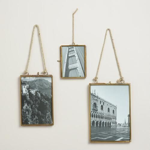 One of my favorite discoveries at WorldMarket.com: Brass Metal Vertical Reese Frame