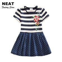 4-8Y Maloobchodné Šaty pre dievčatá dieťa Cartoon Deti Tutu šaty Party Princess Kvetinové šaty letné šaty Girl SH5908 Mix (Čína (pevninská časť))