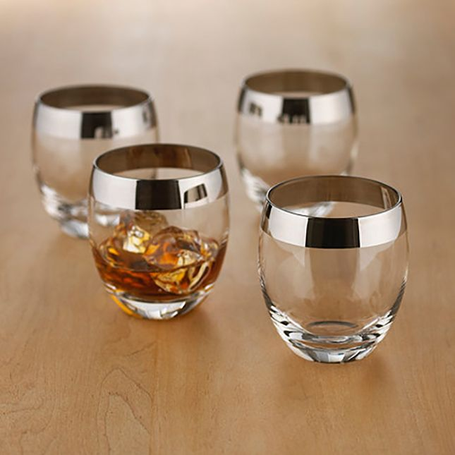 Add these dapper whiskey glasses to your bar cart.