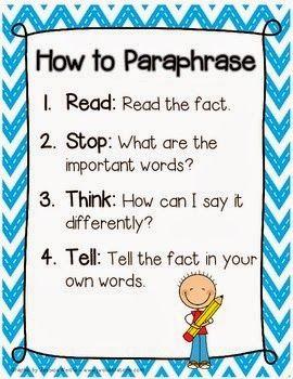 Teaching paraphrasing and summarizing