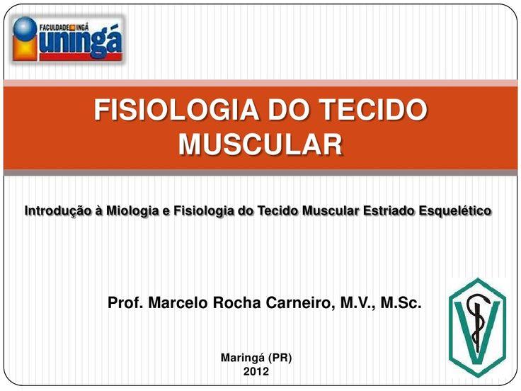 Fisiologia do tecido muscular by Marcelo Carneiro via slideshare