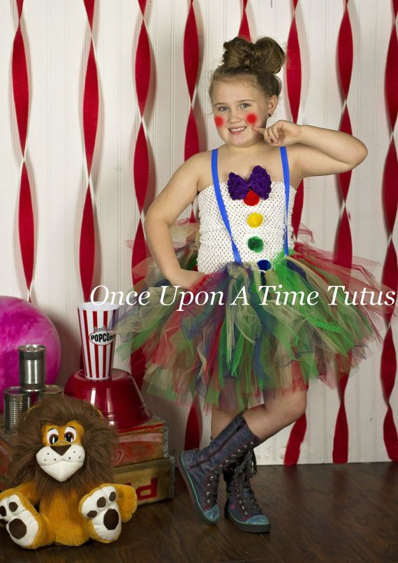 Vintage Circus Clown Tutu Dress - Girls Size Newborn 3 6 9 12 18 Months 2T 3T 4T 5 6 7 8 10 12 ... Birthday Outfit or Halloween Costume  sc 1 st  Pinterest & The 11 best girls Halloween costumes images on Pinterest | Batman ...