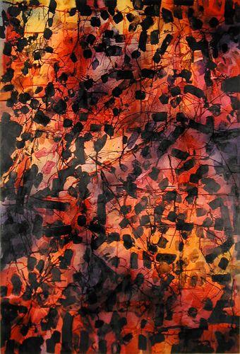 Jean Paul Riopelle, Sans titre, aquarelle et encre sur papier, 97,2 x 66 cm