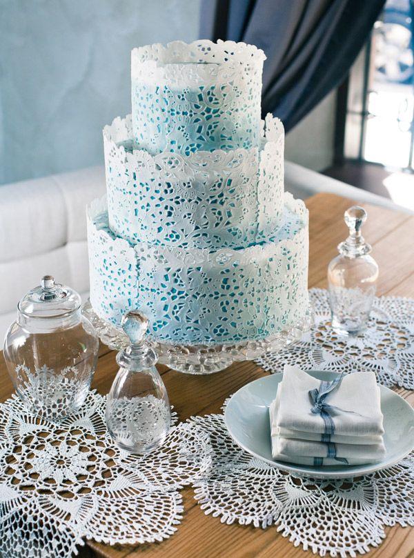 Морозные узоры свадебного торта