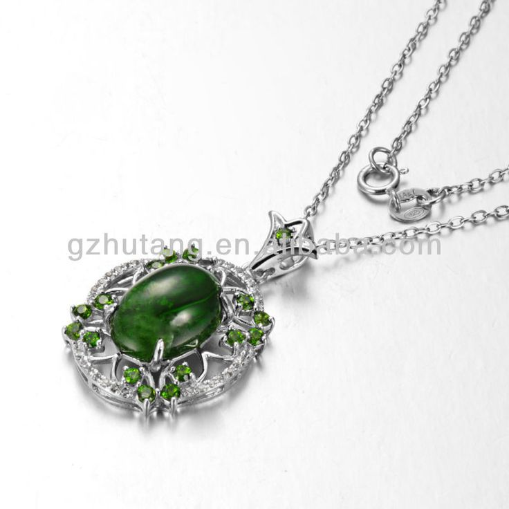 1.pendant with semi-precious stone,Chrome diopside   2.Factory wholesale price  3..other stone available,like citrine,amethyst. great pin!