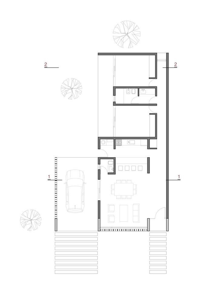 Gallery Of Catalinas Houses Agustin Lozada 28 Small House Plans House Floor Plans House Plans