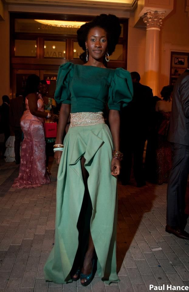 STYLISH SIERRA LEONE FASHIONISTAS ATTENDS THE GREEN WHITE
