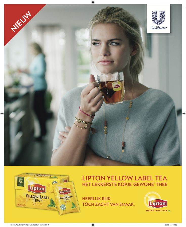 Advertentie Lipton Yellow Label Tea