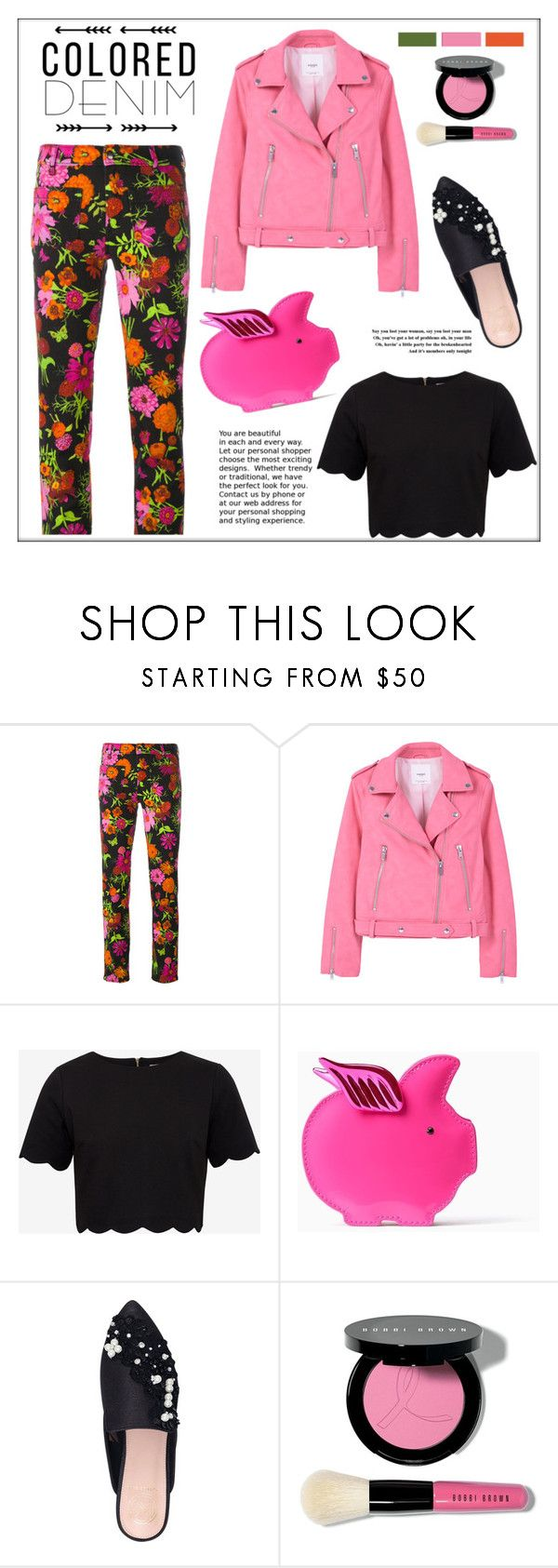 """""""Spring Trend: Colored Denim"""" by pat912 ❤ liked on Polyvore featuring The Seafarer, MANGO, Ted Baker, Kate Spade, KG Kurt Geiger, Bobbi Brown Cosmetics, coloredjeans and polyvoreeditorial"""