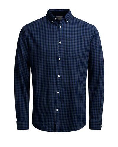ORIGINALS by JACK & JONES Dieser Hemd kann geknöpft getragen werden, um einen klassischen Look zu kreieren. Etwas aufgeknöpft und mit hochgekrempelten Ärmeln, sorgst du schnell für einen lässigeren Style. - Passform: Slim Fit - Aus angenehmer Baumwolle - Minimal-Karomuster und Button-down-Kragen - Unser Modell ist 187 cm groß und trägt Größe L