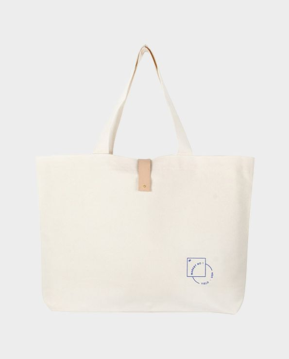 shopping bag by Yield material: cotton and leather elements