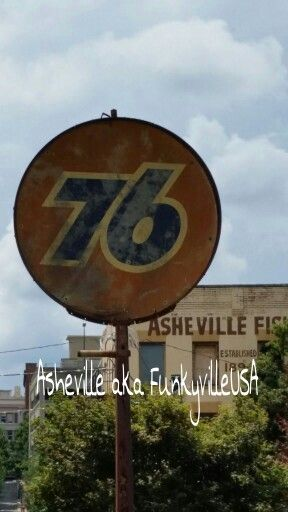 Even The Old Signs Have A Funky Look In Asheville North