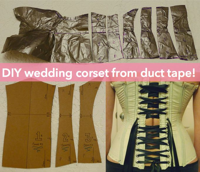 Diy Corset Pattern Fitted Exactly To You With Duct Tape