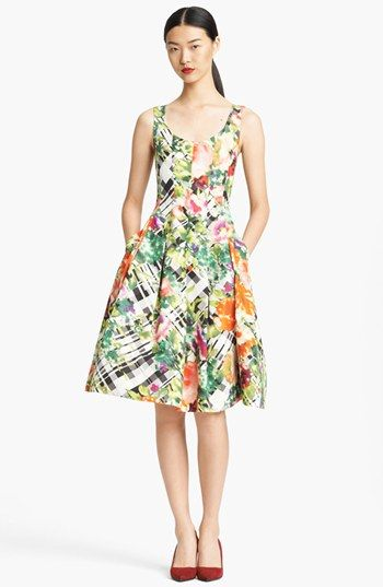A lovely floral dress to match the beautiful colours of the clutch and shoes. #mybetsonBetts