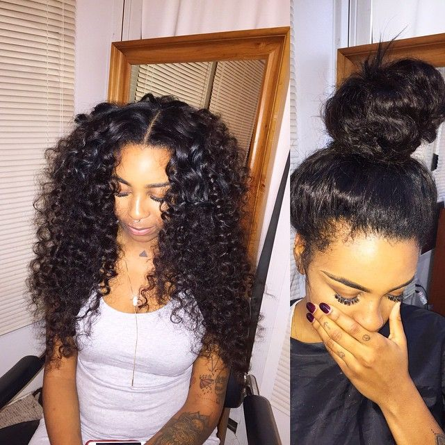 Fine 1000 Ideas About Curly Sew In On Pinterest Curly Sew In Weave Short Hairstyles For Black Women Fulllsitofus