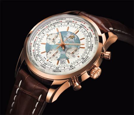 Breitling Transocean Chronograph Unitime Oro Rosso