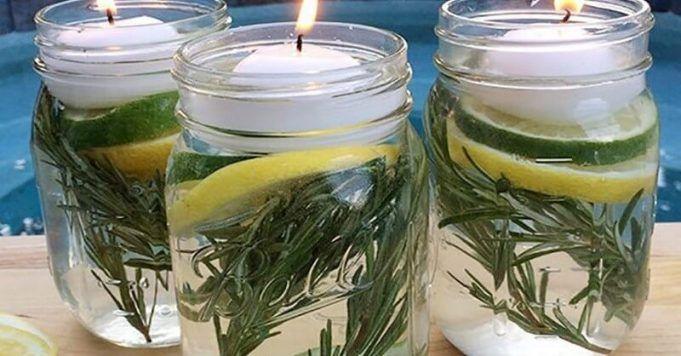 Položte tyto sklenice odpuzující hmyz venku či do pokoje a komáry neuvidíte celé léto