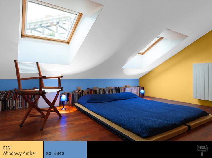 żółto_niebieska_sypialnia