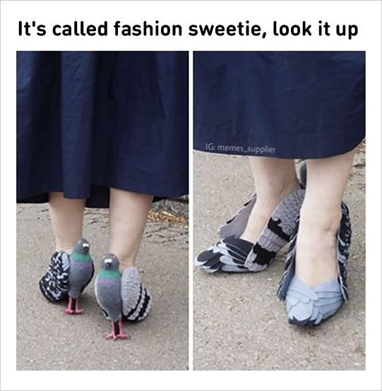 It's called fashion, sweetie