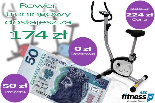 Jesteście w stanie znaleźć na rynku tańszy rower treningowy? Jesteśmy przekonani, że nie :)  Rowery i te najtańsze i te trochę droższe możecie znaleźć tutaj: http://www.abcfitness.pl/rowery-treningowe/