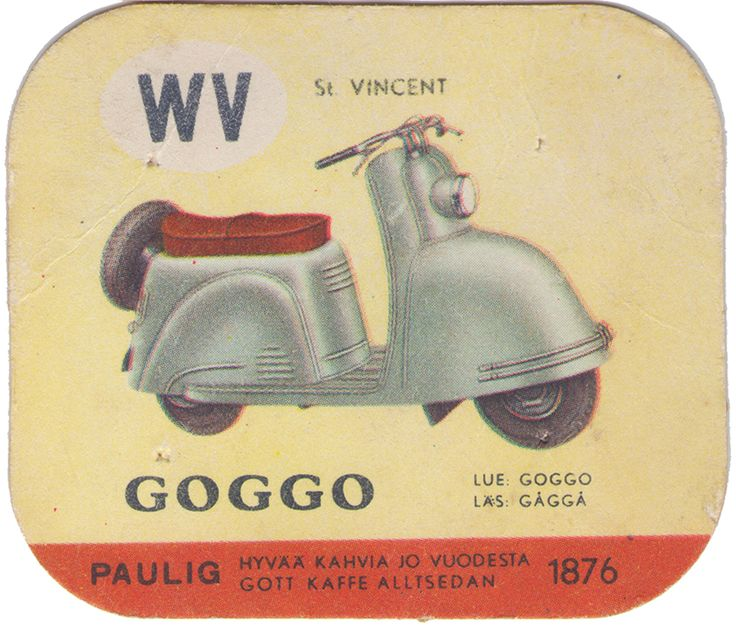 En nostalgitripp fram till jul med hjälp av Pauligs bilkort från mitten av 1900-talet. Goggo #motorcycles #vintage