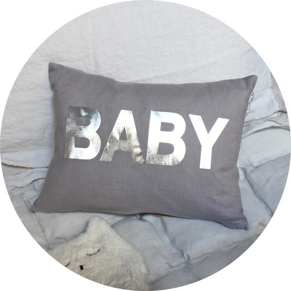 coussin 'baby' argenté .:serendipity.fr:.