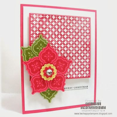 Mosaic Madness Poinsettia by stamptek - Cards and Paper Crafts at Splitcoaststampers