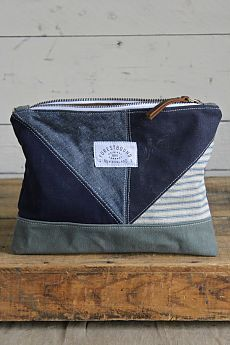 1940's era Quilted Denim and Canvas Utility Pouch - FORESTBOUND