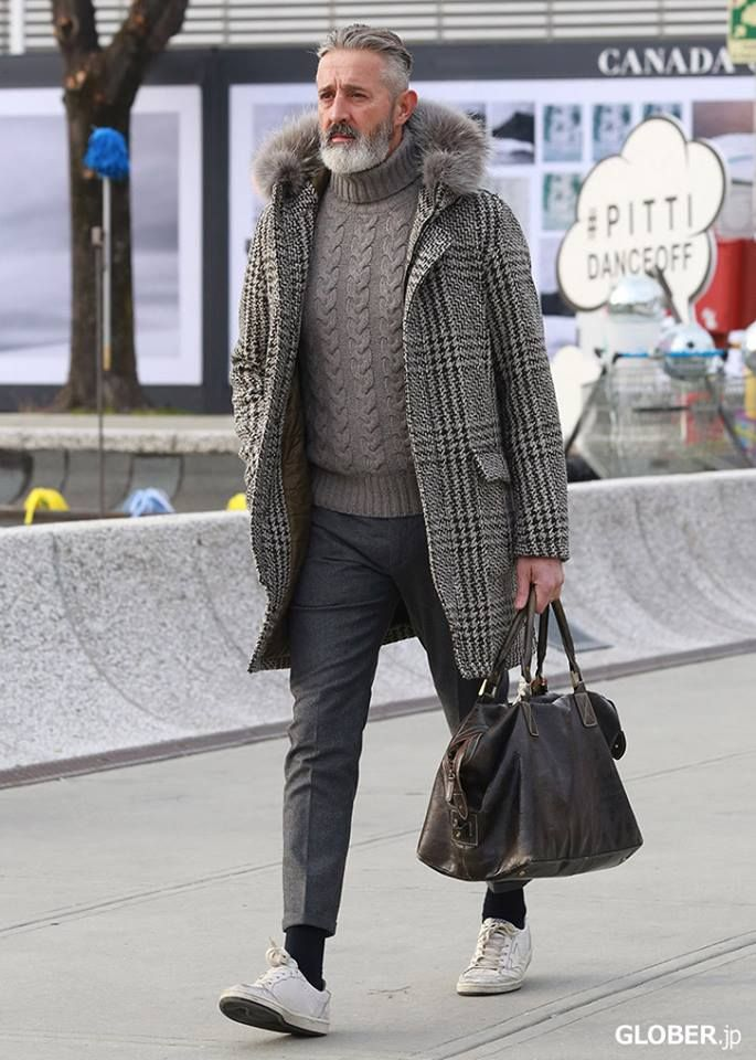 Love the sweater, the coat, the 50 Shades of Grey...hehe!