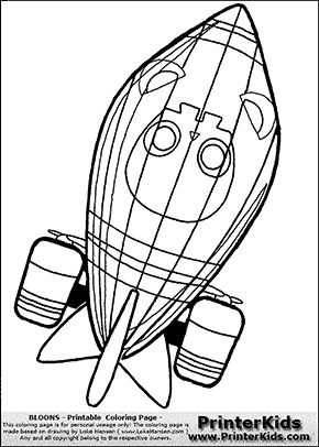 Bloons Td5 Zomg 1 Coloring Page Coloring Pages