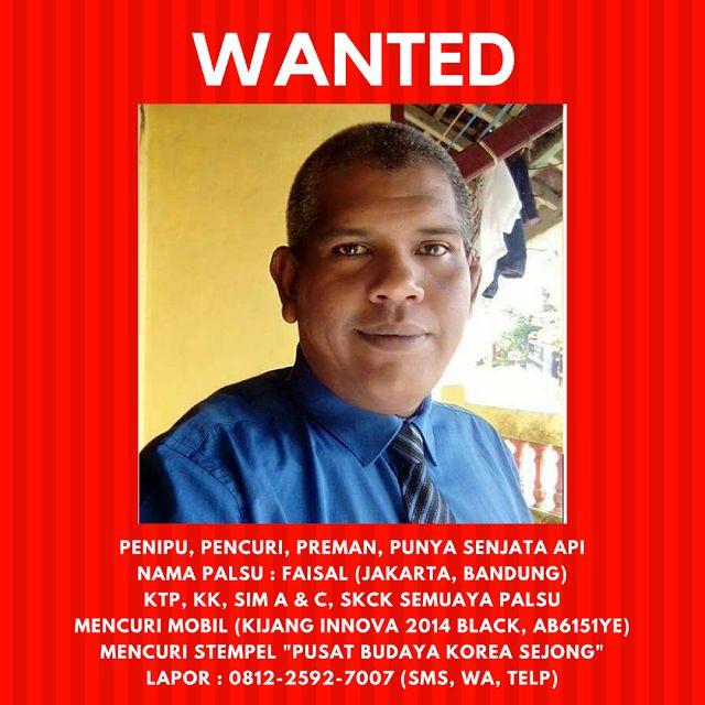 WANTED : Pencuri Penipu dan Preman Harus Hati-hati