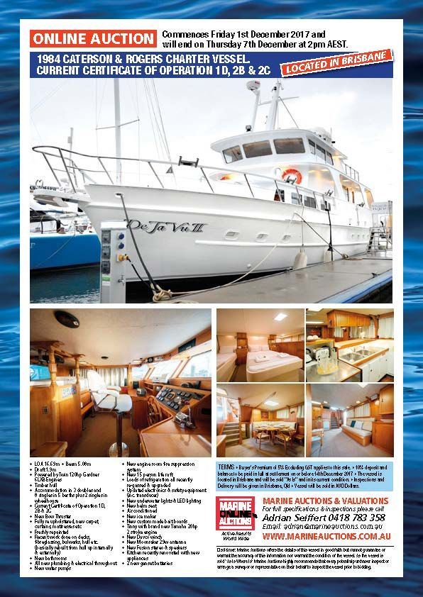 1984 CATERSON & ROGERS CHARTER VESSEL. CURRENT CERTIFICATE OF OPERATION 1D, 2B & 2C #boatsforsale