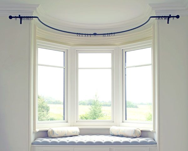 Wrought Iron Bay Window Curtain Poles Made To Measure Bay