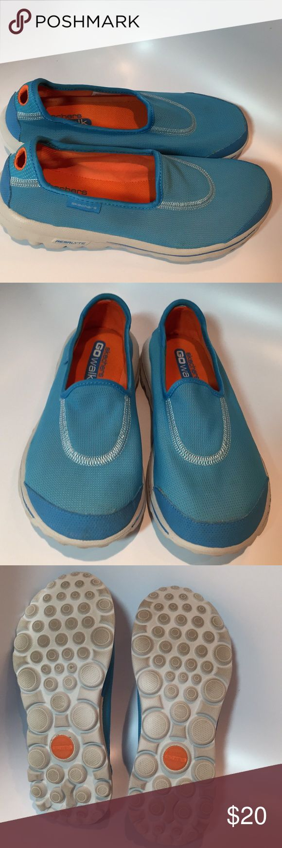 "Skechers ""GO walk"" slip-on Shoes. Very good condition baby blue Skechers ""GO walk"" slip-on Shoes. Size 6.5. Skechers Shoes Sneakers"